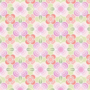 Scandi flower power pink