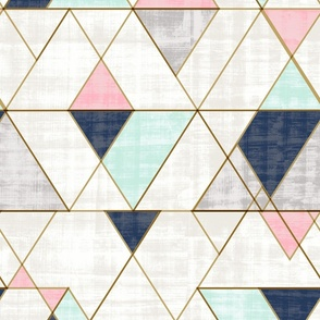 Mod-Triangles XL Navy-Mint-Pink