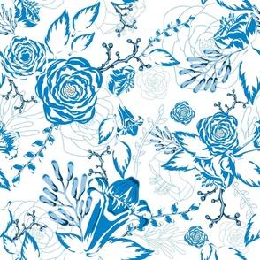 Floral Joy Vintage Garden - Blue