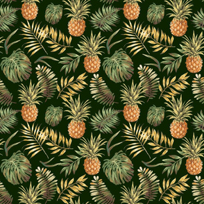Aloha Exotic Pineapple Pattern