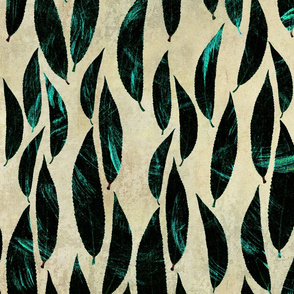 Marble leaves pattern