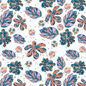 Funny flowers pattern