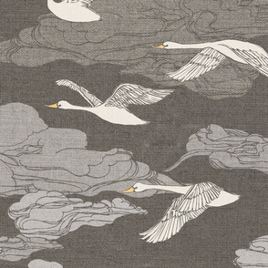 The Wild Swans {Grey} - large scale