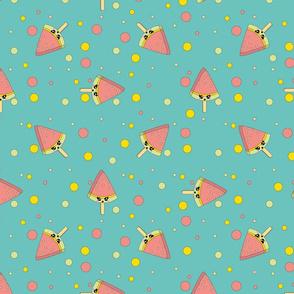 Cartoon cute colorful vector Ice cream pattern