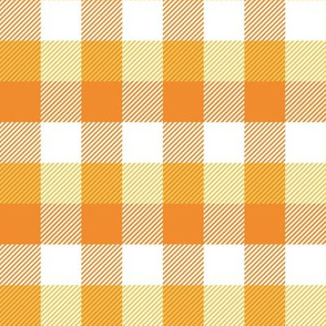 "1"" Candy Corn Plaid"