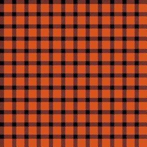 Mini Orange and Black Plaid