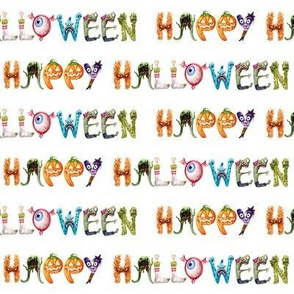 Happy Halloween // White