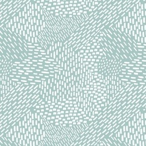 abstract brush stroke, white on sea foam