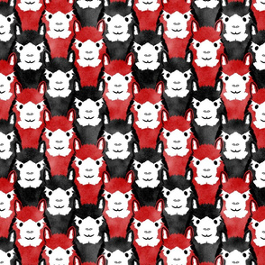 Alpaca pride - red stripes