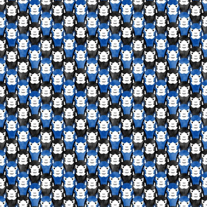 Small Alpaca pride - blue stripes