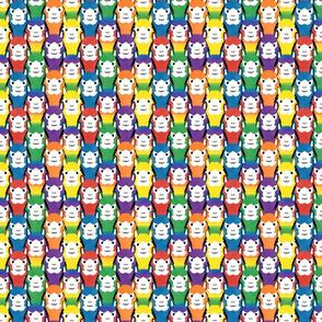 Small Alpaca pride - all rainbow