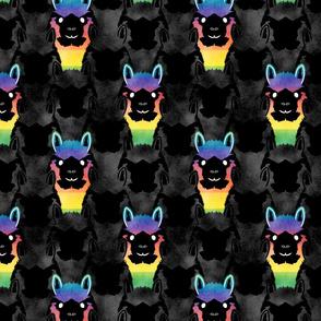 Alpaca pride - spotlight rainbow
