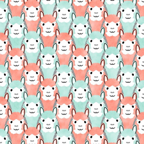 Alpaca pride - Coral and Mint