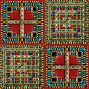 Ornate Inlaid Jewels Effect Carnelian