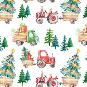 Christmas Tractor Parade // White