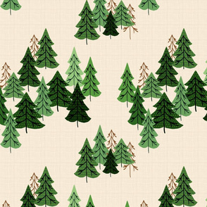 Pine Woods Version 2 On Cream