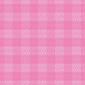 Heart doodles pink gingham