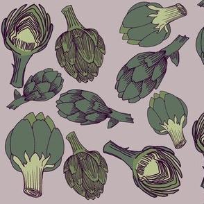artichoke - dusty lavender
