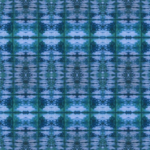 Green and Blue Shibori