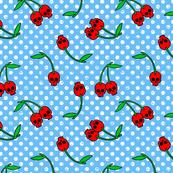 cherry skulls blue