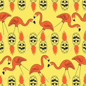 Halloween Mingos and Pinapple Lanterns- Yellow