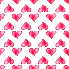 Heart pattern watercolor