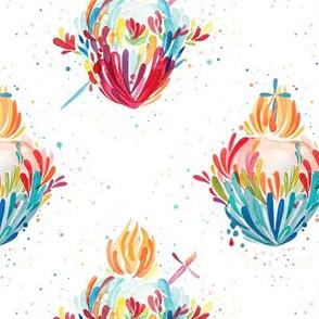 Splashy Heart - Multi Colored