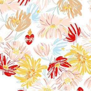 Immaculate Heart  Floral - Yellow