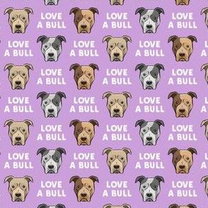 """(3/4"""" scale) LOVE A BULL - purple - LAD19"""