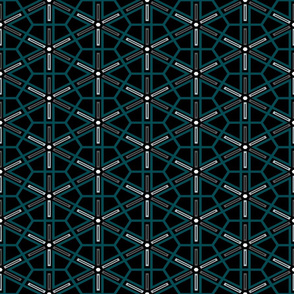 The Green the Grey and the Black: Geometric Starburst