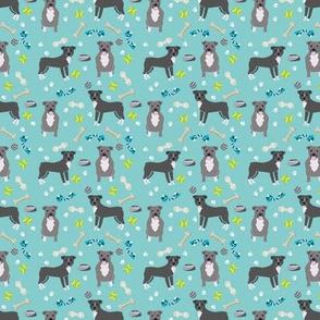 SMALL - pitbull toys fabric - dog toys fabric, pitbulls fabric, cute dog fabric - pitbulls fabric