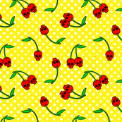 cherry skulls yellow
