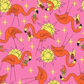 Halloween Flamingos- Pink