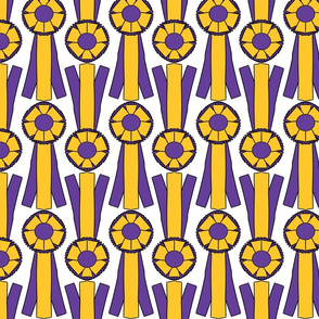 Simple Rosettes in purple and gold