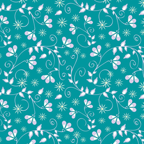 Gentle wedding background turquoise