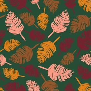 Autumn feather green
