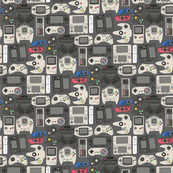 Video Game Controllers in True Colors 1/2 Size Horizontal
