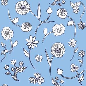 Hand-drawn Flowers Victorian