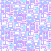 Video Game Controllers in Pastel Colors 1/2 Size Horizontal