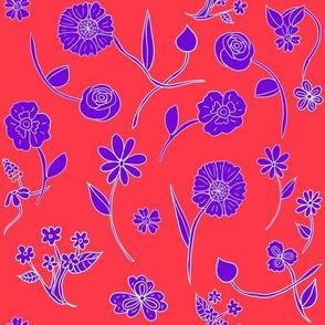 Hand-Drawn Flowers Matisse