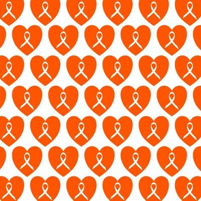 ribbons in hearts orange