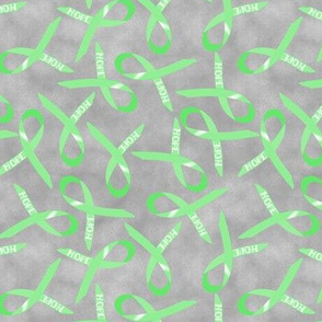hope awareness  ribbon scattered ditsy green