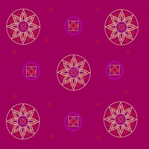 Sunring Mandala Magenta