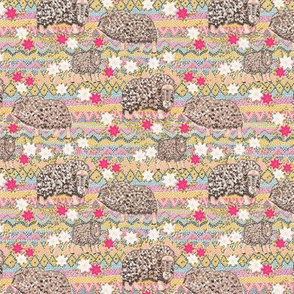 Musk Oxen of Fair-Islendia (beige) 4""