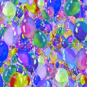 small summer yummy balloons BLUE PURPLE LIME paysmage