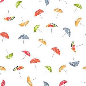 Scattered Umbrellas