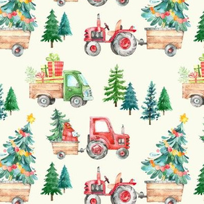 Christmas Tractor Parade // Cream