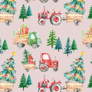 Christmas Tractor Parade // Oyster Pink