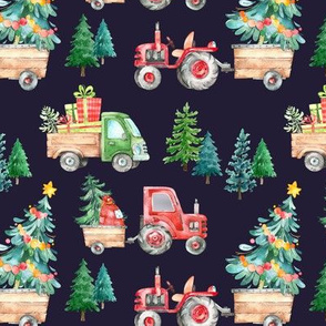 Christmas Tractor Parade // Navy