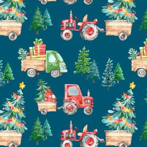 Christmas Tractor Parade // Regal Blue